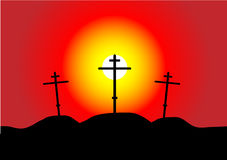 Calvary at sunset Royalty Free Stock Photography