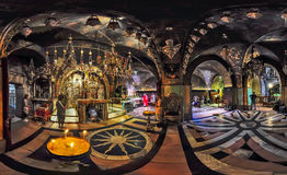 Calvary Temple. Church of the Holy Sepulchre in Jerusalem. Panorama Stock Images