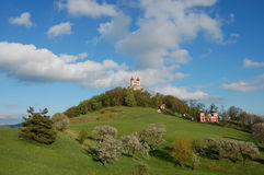 Calvary van de reis van Banska Stiavnica Slowakije stock foto