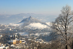 Calvary in winter, Banska Stiavnica Stock Photography