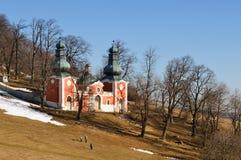 Calvary in winter, Banska Stiavnica Slovakia Stock Photography