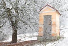 Calvary y naturaleza del invierno Fotografía de archivo
