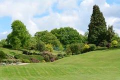 Calverley jordning - pittoreskt offentligt parkerar i Tunbridge brunnar Royaltyfri Bild