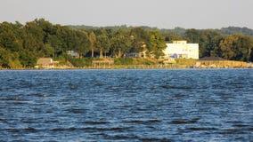 Calvert Maryland-Küstenlinie vom Patuxent-Fluss Stockbilder