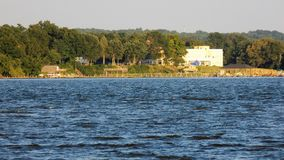 Calvert Maryland shoreline from the Patuxent River Stock Images
