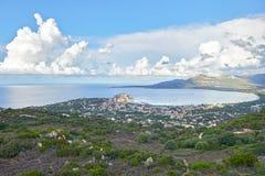 calvi可西嘉岛法国 库存图片