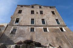Calvi, цитадель, древние стены, горизонт, Корсика, Corse, Франция, Европа, остров Стоковые Фотографии RF