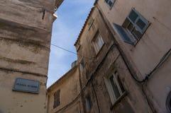 Calvi, цитадель, древние стены, горизонт, Корсика, Corse, Франция, Европа, остров Стоковая Фотография RF