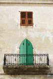 Calvi balkonowy domu miasta tradycyjne Korsyka Obraz Royalty Free