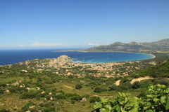 Calvi bay. In corsica - citadel and beaches Stock Images