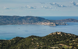 Calvi Bay in Balagne region of Corsica Royalty Free Stock Photography