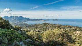 Calvi Bay in Balagne region of Corsica Stock Photography