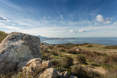 Calvi Bay in Balagne region of Corsica Stock Photos
