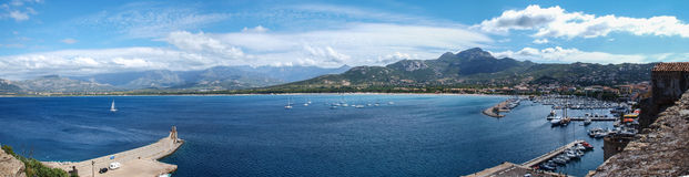 Calvi bay panorama Royalty Free Stock Photos