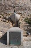 Calvi, Christopher Kolumb, cytadela, antyczne ściany, linia horyzontu, Corsica, Corse, Francja, Europa, wyspa Zdjęcia Stock