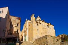 Calvi Citadel. An alley in the citadel in Calvi, The Balagne, Corsica, France stock photo