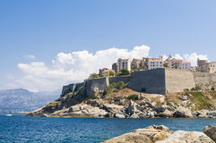 Calvi citadel. With residentual quarters high on a cliff, Haute-Corse, Corsica, France, Europe Royalty Free Stock Photography
