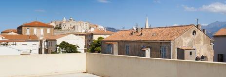 Calvi, citadela, paredes antigas, skyline, Córsega, Corse, França, Europa, ilha Foto de Stock