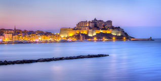 Calvi city at night Stock Photos