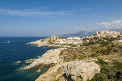 Calvi coastline Royalty Free Stock Images