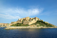 Calvi (Corsica- France). The castle and the harbor of Calvi in Corsica Royalty Free Stock Photography