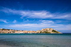 Calvi, Corsica, France, Europe. Calvi - Colorful coastal town on the island of Corsica, France. According to legend, Christopher Columbus supposedly was born Stock Image