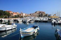 calvi corsica hamn Arkivbilder
