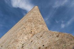 Calvi, cytadela, antyczne ściany, linia horyzontu, Corsica, Corse, Francja, Europa, islandi Obraz Stock