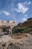 Calvi, cytadela, antyczne ściany, linia horyzontu, Corsica, Corse, Francja, Europa, wyspa Zdjęcia Royalty Free