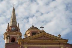 Calvi, cytadela, kościół, antyczne ściany, linia horyzontu, Corsica, Corse, Francja, Europa, wyspa Fotografia Royalty Free