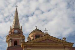 Calvi, cytadela, kościół, linia horyzontu, Corsica, Corse, Francja, Europa, wyspa Zdjęcie Stock