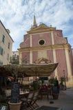Calvi, cytadela, kościół, linia horyzontu, Corsica, Corse, Francja, Europa, wyspa Zdjęcia Stock