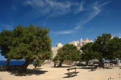 Calvi een Corsica dorp Stock Afbeeldingen