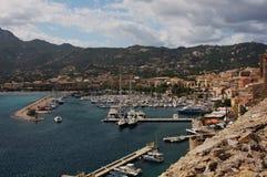 Calvi hamn och marina Royaltyfri Foto