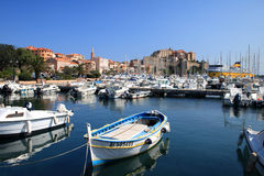 Calvi harbour, Corsica Stock Images