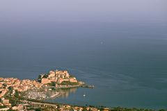 Calvi port and citadel, Corsica Royalty Free Stock Images
