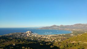 Calvi skyview Royalty Free Stock Image