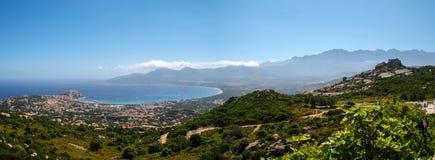 Calvi zatoka zdjęcie stock