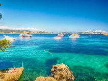 Calvia Cala Fornells turquoise mediterranean in Majorca Royalty Free Stock Photo