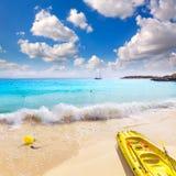 Пляж Мальорка Calvia Майорки Playa de Illetas Стоковые Изображения RF