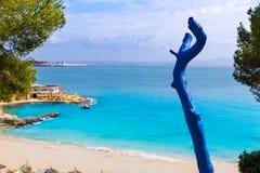 Пляж Мальорка Calvia Майорки Playa de Illetas Стоковая Фотография RF