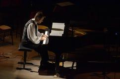 Calvin Jones i Dnipro Symfoniczna orkiestra zdjęcia stock