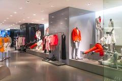 Calvin Klein Boutique. Interior of Calvin Klein boutique with mannequin display. Photo was taken on 09 June 2013 Royalty Free Stock Photos