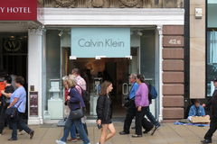 Calvin Klein brand store Stock Photography