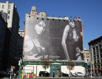 Calvin Klein controversial billboard in Lower Manhattan Stock Photos