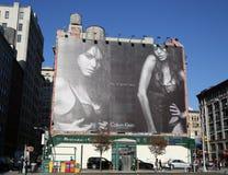Calvin Klein controversial billboard in Lower Manhattan Stock Photos