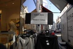 Calvin klein. Copenhagen/Denmark/ _ 17 March 2016_ American Calvin Klein design modern cotton underwears display in shop on stroget in Copenhagen Denmark (Photo stock image