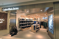 Calvin klein jeans shop in hong kong Royalty Free Stock Image