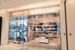 Calvin klein jeans shop in hong kong Royalty Free Stock Photos