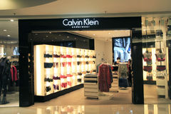 Calvin klein shop in hong kong Royalty Free Stock Images